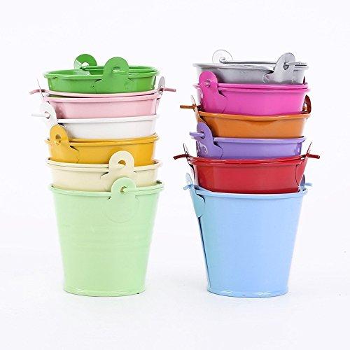 Vikenner 12 piezas coloridas Mini cubo metal dulces