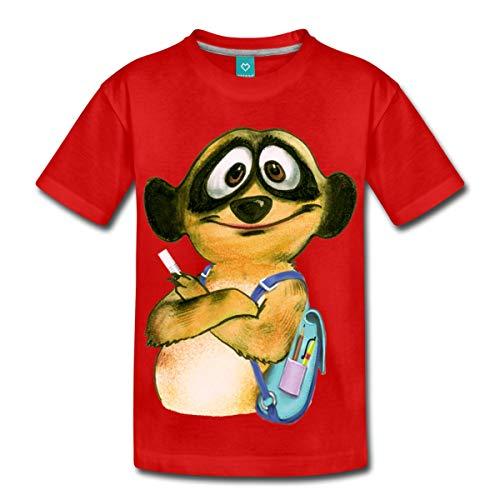 Spreadshirt Schul-Schlingel Kinder Premium T-Shirt, 122/128 (6 Jahre), Rot