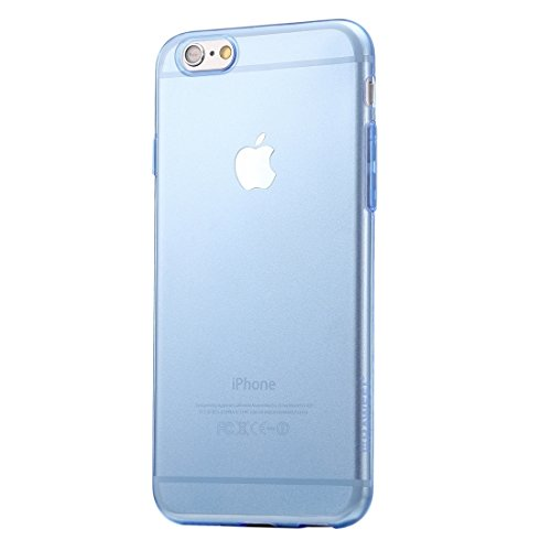 Wkae Case & Cover haweel 0,3 mm 0 série transparent tpu étui de protection pour iphone 6 plus &6s et ( Color : Pink ) Blue