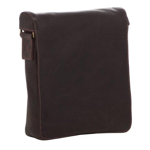 Preisvergleich Produktbild Prato Adventure Umhängetasche aus Leder 24 cm dark brown