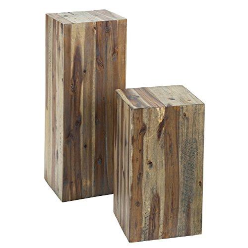 Hochwertige Treibholz Dekosäule COLUMNA 50cm vintage Beistelltisch Dekoration Holzsäule Säule Massivholz