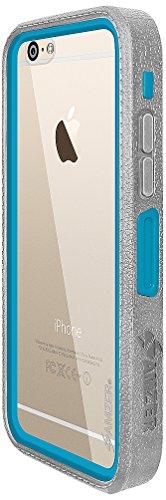Amzer Crusta edge2edge Shell Housse Coque Étui robuste avec verre trempé et clip ceinture pour iPhone 6Plus Argenté/doré _ P Blue/Gold/Grey/Silver