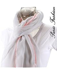 foulard blanc - rose
