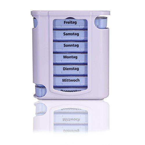 Horn Medical Pillendose / Pillenbox / Tablettendose / Tablettenbox / Tablettenturm 7 Tage (Einzelpackung)