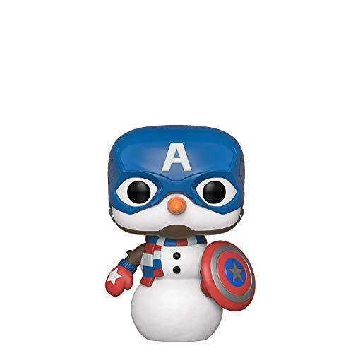Funko 43335 POP Bobble Vinyl Marvel: Holiday-Captain America Capt Sammelbares Spielzeug, Mehrfarben