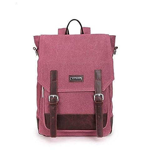 Sac à dos pour ordinateur portable Sac à dos Vintage Sac à dos pour ordinateur portable / École / Randonnée / Outdoor Casual Daypacks College Bag Mens , wiener red