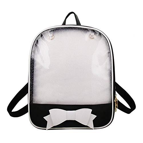 Ita Bag mochila niñas Mochila de bowknot clara, Cuero de caramelo Bolso de escuela pasadores visualización...