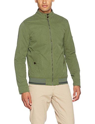 Hilfiger Denim Herren Jacke Thdm Basic Harrington Jacket 19, Grün (Four Leaf Clover), Small