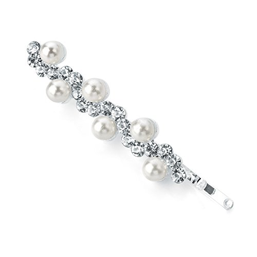 HA27500 & Style Vintage Argenté Perles et cristaux Crème cheveux fête/mariage mariée