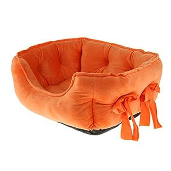 Homyl Fauteuil Chien Chat Souple en Coton Douillet Mignon Lit Couchage Mobilier pour Animaux - Orange
