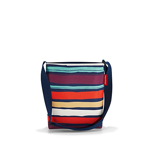 reisenthel shoulderbag S artist stripes Maße: 29 x 28,5 x 7,5 cm / Volumen: 4,7 l