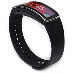 Woodln Replacement Band Wrist Strap para Samsung Galaxy Gear Fit R350 Smart Watch (Black)
