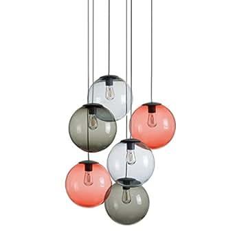 Fatboy Spheremaker 6 LED - Suspension, bleu clair brun rouge 6 boules incl. dimmer incl.remote