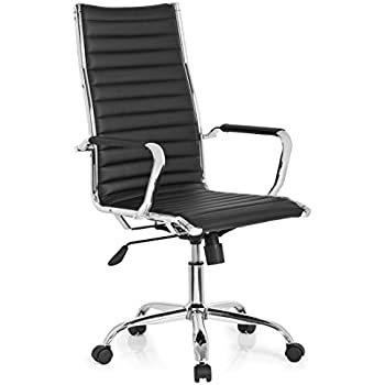 hjh office 660940 luxury executive chair swivel office chair vemona 20 black faux leather