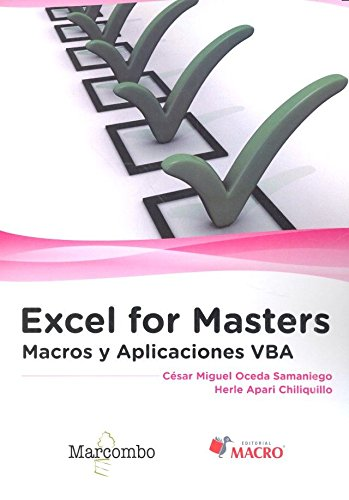 Download Excel for Masters   Macros y Aplicaciones VBA PDF