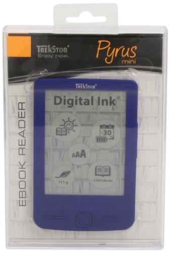 TrekStor Pyrus mini 10,9 cm (4,3 Zoll) eBook Reader (2GB interne Speicher, 600 x 800 Pixel, microSDHC-Kartenleser, USB 2.0) blau (Microsdhc-speicher)