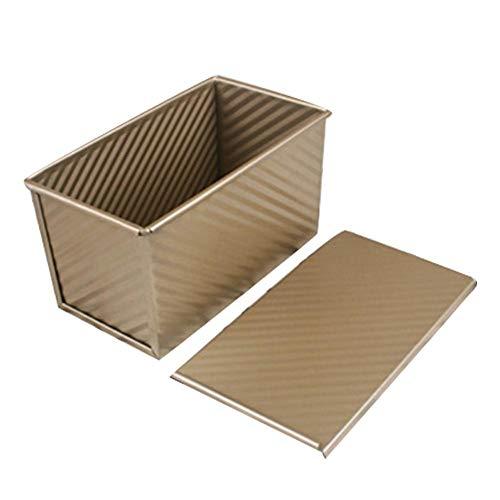 Pullman Loaf Pan (Haushalts backwaren Pullman-Laib-Wanne mit Deckel, nonstick rechteckiges Toast-Brot-Form-Ofen-Backen-Werkzeug, Gold)