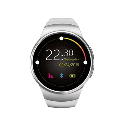 MDBLYJ Intelligente Uhr, Bluetooth-Handy Schrittzähler Dual-System-kompatible Mode Armbanduhr Armbanduhr Fitness-Tracker Sportuhr (Farbe : SCHWARZ)