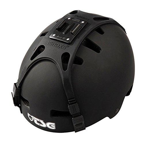 iSHOXS Taktsang ActionPro Helmet Mount - Helm Halterung passend für GoPro und kompatible Action-Kameras, flexibel auf alle Helmgrössen anpassbar