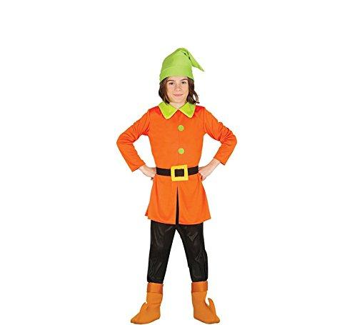 Wald Zwerg - Kostüm f. Kinder Karneval Sieben Märchen Schneewittchen Gr. 98 - 128, - Zwerge Aus Schneewittchen Kostüm