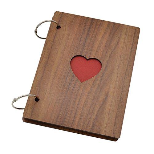 YNuth Holz Fotoalbum Bilderalbum Einklebebuch Tagebuch Scrapbooking Geschenk DIY -