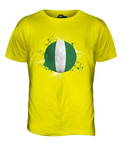CandyMix Nigeria Fußball Herren T Shirt Zitronengelb