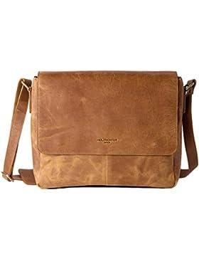 HOLZRICHTER Berlin Umhängetasche (S) aus Leder. Kleine Messenger Tasche und Laptop Tasche. Hochwertige Ledertasche...