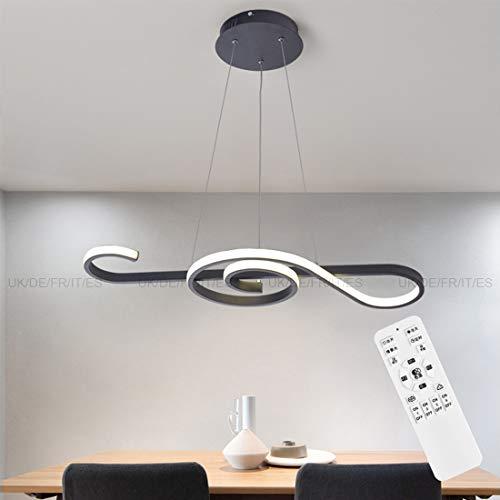 Lustre LED Design Dimmable Plafonnier en Métal 70CM / 45W-SMD Plafonnier avec Télécommande Créatif Plafond Lampe Chambre à Coucher Salle de bain Cuisine Chic Lumière Réglable en Hauteur Plafonnier