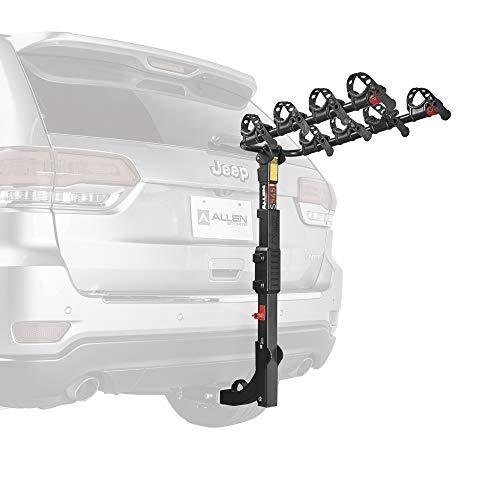 Hitch Mounted 4-Fahrradträger für Fahrzeuge mit externen Ersatzreifen ()
