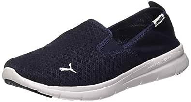Puma Unisex Adult Flex Essential Slip On Peacoat White Running Shoes-7 UK (40.5 EU) (8 US) (36527308_7)