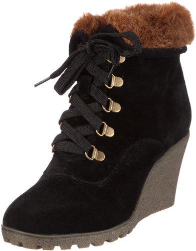 Buffalo Girl 238631R SY SUEDE, Damen Kurzschaft Stiefel, Schwarz (BLACK595), 41 EU (Buffalo Girl)