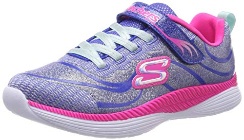 Skechers Mädchen Move 'n Groove Sneaker, Blau (Blue Hot Pink Blhp), 30 EU