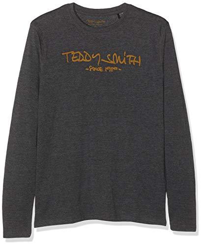 Teddy Smith - TICLASS 3 ML - T-Shirt - Homme - Noir (Mélange Black/Marron 125a8) - X-Small