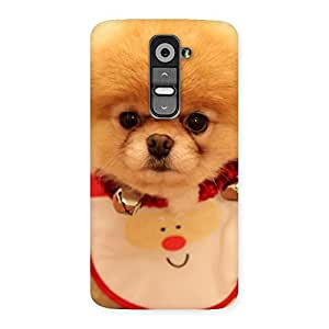 Delighted Cutest Pup Multicolor Back Case Cover for LG G2