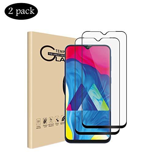 VICELEC [2 Pack Pellicola Protettiva Samsung Galaxy M20, Proteggischermo in Vetro Temperato [Screen Protector Durezza 9H] [3D Copertura Schermo Intero], Film Trempé Samsung Galaxy M20