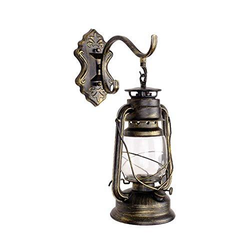 WOZUIMEI Wandleuchte Schmiedeeisen Antike Laterne Retro Öl Lampe Bar Dekoration Kreative Wandleuchte, EIN
