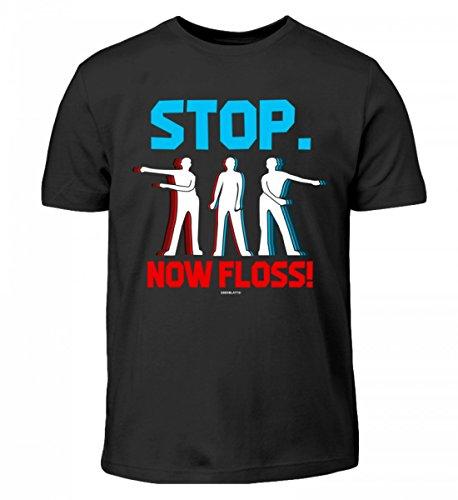 Hochwertiges Kinder T-Shirt - Stop. Now Floss Zahnseide Tanz Floss Dance Trend Tanz lustiges Geschenk