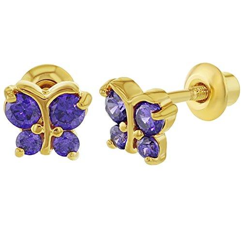 18-k-placcato-oro-viola-cz-piccola-farfalla-orecchini-a-vite-posteriore-baby-kids-5-mm