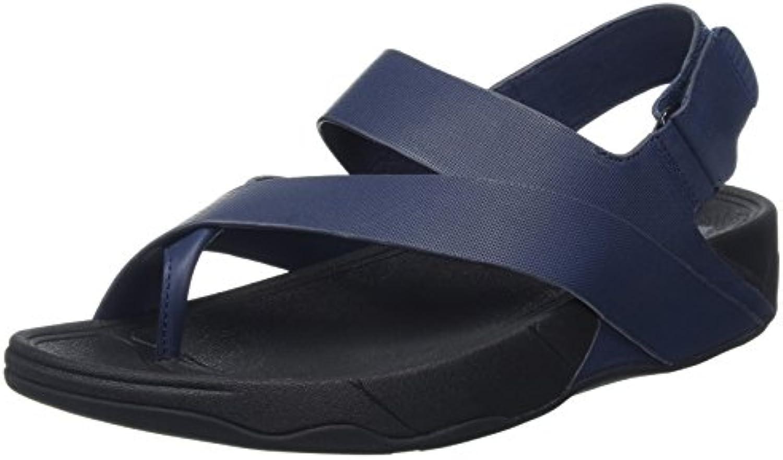 FitFlop Herren Surfer Leather SandalFitFlop Herren Surfer Leather Midnight Billig und erschwinglich Im Verkauf