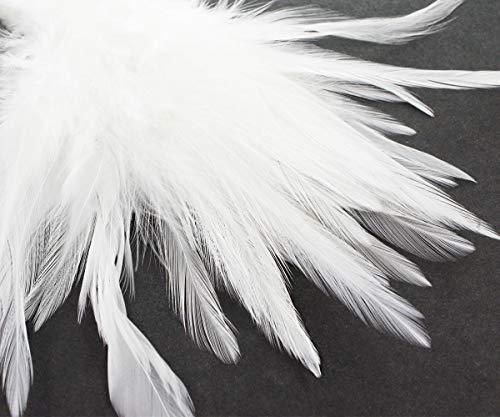 16pcs Weiß Natur Hahn, Sattel, Unten Federn DIY Ohrringe Brosche Schmuck Kostüm Dreamcatcher 10-16cm
