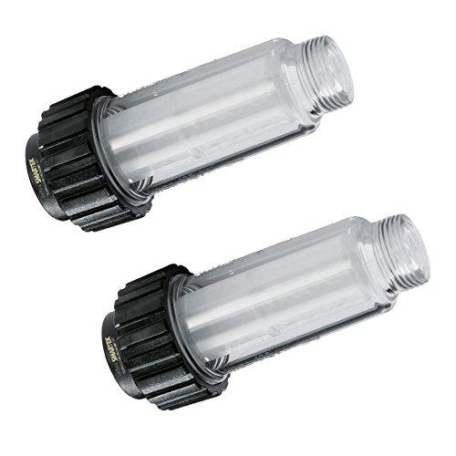 """2 filtros de agua con filtro (5.731-050.0) para todos los limpiadores de alta presión con conexión de agua de 3/4"""" como Kärcher K2-K7 compatible con 4.730-059.0 de One."""