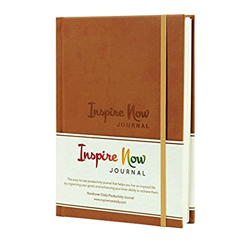INSPIRE NOW JOURNAL – A5 Daily Productivity Planner, Daily Organiser, Weekly Planner, Set and Achieve Your Goals, Get Things Done.
