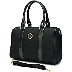 INKDICE women's Handbag for Women(SSP,Black)