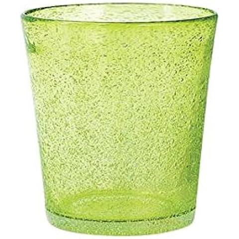 H&H Giada Bicchiere Giada Tavola, 28 cl, Vetro, Verde, 6 Pezzi