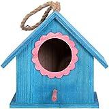 Kardu.C Cage À Oiseaux - Maison D'Oiseau en Bois Suspendu en Plein Air Nid D'Elevage Boîte,pour Inséparable Budgies Cockatiel, Perroquet Petits Oiseaux