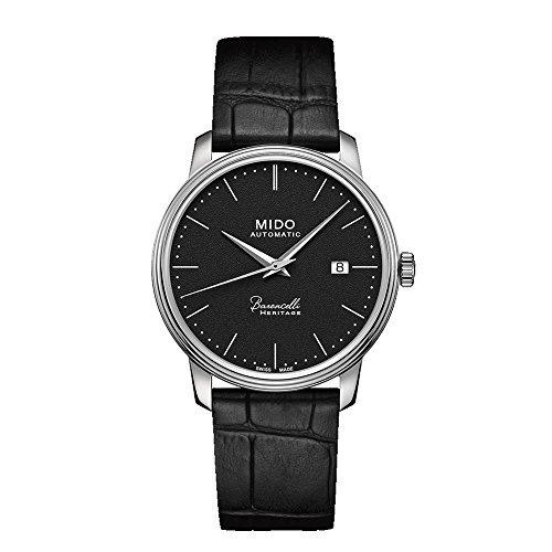 mido-mens-baroncelli-iii-39mm-black-leather-band-steel-case-automatic-analog-watch-m0274071605000
