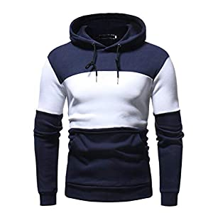Ansenesna Men Tops Long Autum Long Patchwork Gym Athletic Ribbed Bodybuilding