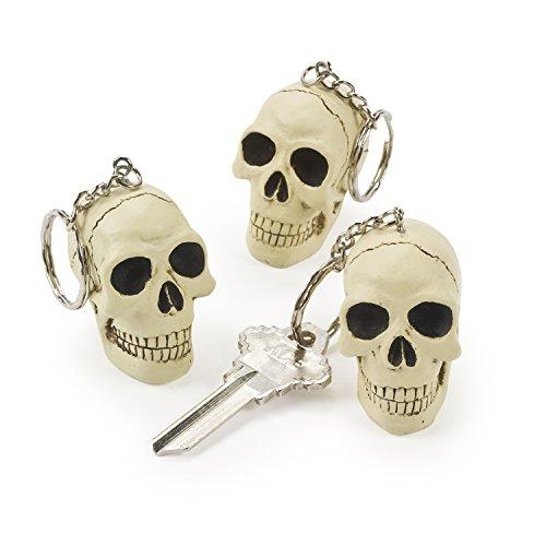 cama24com Halloween Piraten Totenkopf Schlüsselanhänger aus Resin 1 Stück Mitgebsel Gastgeschenke Palandi®