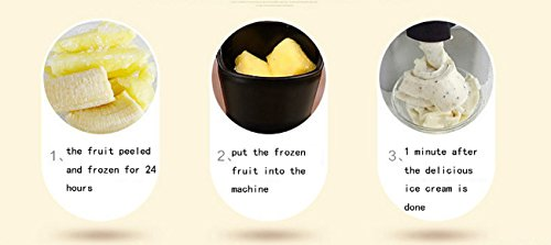 ZXMXY Fruit Ice Cream Machine Mini Ice Cream Cone Maker Automatic With Detachable Mixing Paddle Frozen Yoghurt & Sorbet Machine Save Power