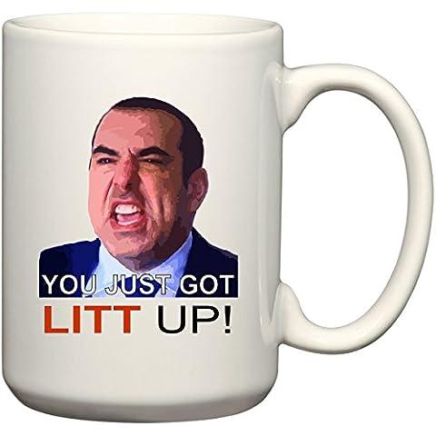 You Just Got Litt Up by Louis Litt! - 15 oz Funny Mug by BeeGeeTees 05129 by BeeGeeTees